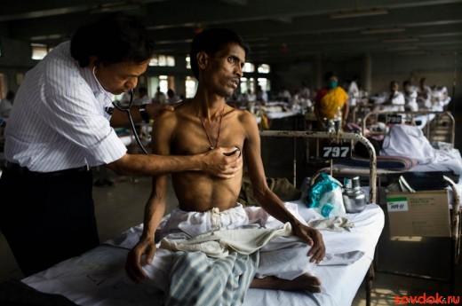 осмотр больного туберкулёзом