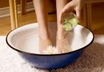 горячие ножные ванны