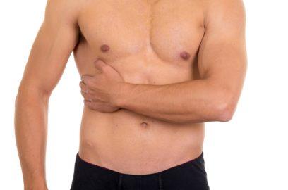 Симптомы: боль правый бок под ребрами