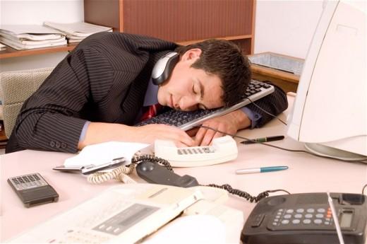 Уснул на работе