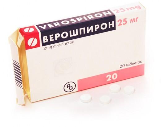 Верошпирон 25 мг
