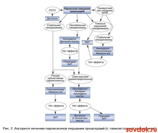 алгоритм лечения пароксизмов
