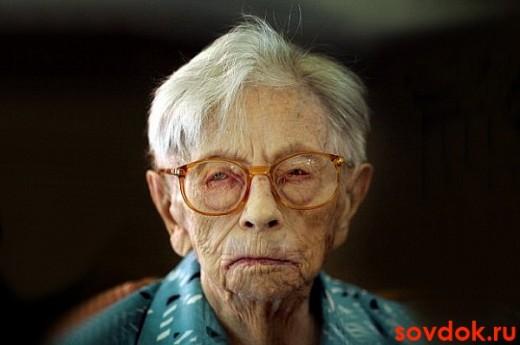 бабуля в очках