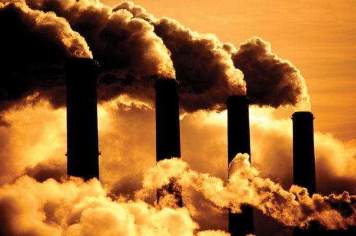Дымящиеся трубы завода