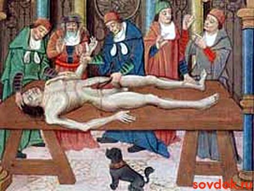 фреска средневековой реанимации
