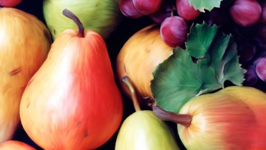 груши виноград
