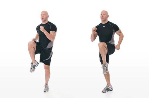 Ходьба с высоким подниманием колена