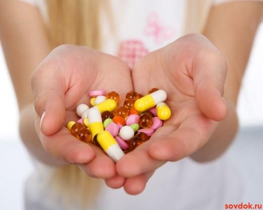 Пригорошня лекарственных препаратов