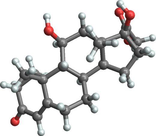 Модель молекулы кортизола