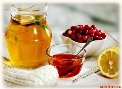 мёд, брусника, лемон