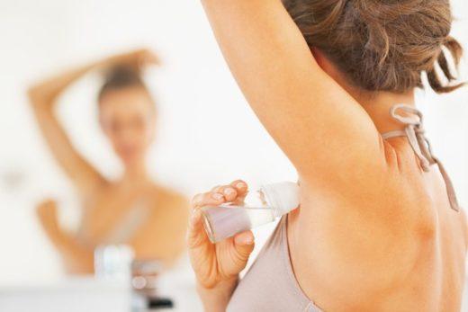 пользование дезодорантом