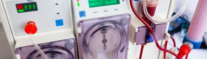 Аппарат для гемодиализа крупным планом