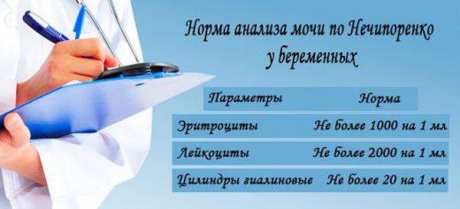 Нормальный анализ мочи по Нечипоренко у беременных