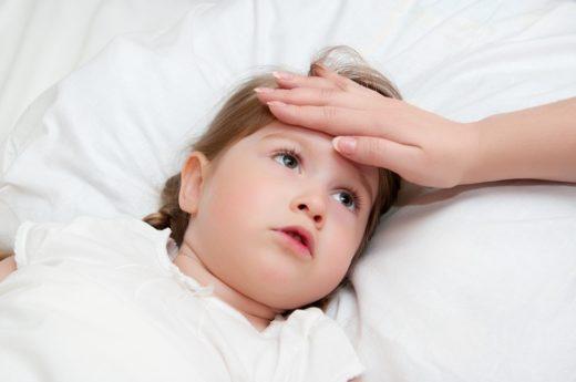 Повышенная температура тела у ребёнка
