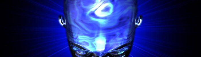 синяя голова и мозг