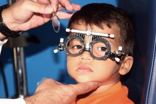 Пробная оправа на ребёнке
