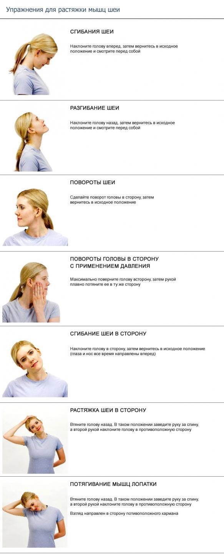 Упражнения для лечения остеохондроза шейного отдела