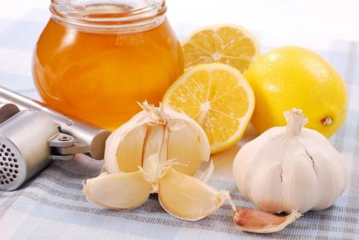 Мёд, лимон и чеснок
