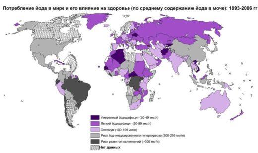 Йододифицит в мире