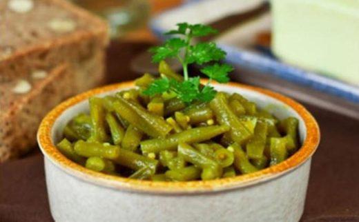 Зелёностручковая фасоль с горошком